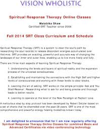 Robert Detzler Charts Spiritual Response Therapy Online Classes Fall 2014 Srt