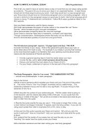 the formal literary essay example of formal essay writing