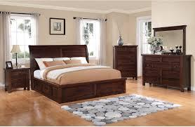 King Bed Bedroom Sets Sonoma 8 Piece King Storage Bedroom Set Dark Brown The Brick