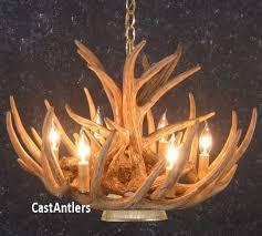 cast cascade whitetail 9 antler chandelier w downlight made in usa 752025859391