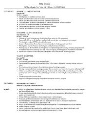 Resume Model For Experience Candidate Talent Recruiter Resume Samples Velvet Jobs