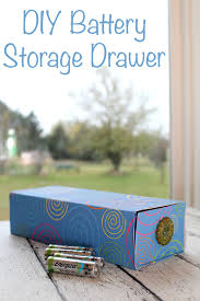 Keep your batteries organized with a DIY battery storage drawer made from a recycled  q-