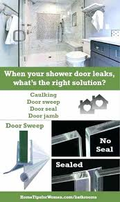 shower door sweeps make sure you know where your shower door leaks are coming from so shower door sweeps shower door sweep