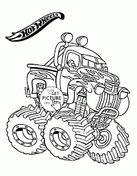 Hot Wheels Monster Truck Coloring Page For Kids Transportation