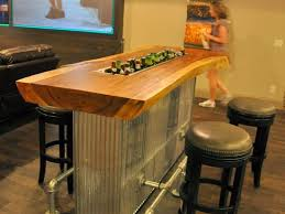 Kitchen Countertop  Fancy Media Room Bar Counter With - Kitchen counter bar