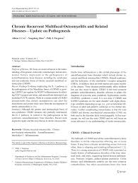 PDF) Chronic Recurrent Multifocal Osteomyelitis and Related Diseases—Update  on Pathogenesis