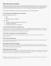 Resume Builder Template Microsoft Word Options Cover Letter For Resume Microsoft Word Resume