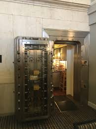 this hotel s breakfast lounge is inside an old bank vault