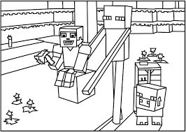 Small Picture Printable Minecraft Colouring Pages FunyColoring