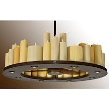 candelier ceiling fan oiled bronze real wax candles lighted by led