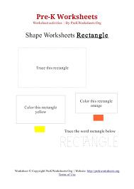 Pre-K Rectangle Shape Activity Worksheet | Pre K Worksheets Org