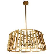 paul marra trellis chandelier in gold leaf for