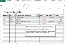 Excel Checkbook Formulas Check Register Template Excel Lovely Microsoft Excel Checkbook