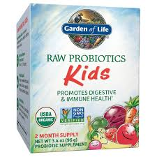 com garden of life raw probiotics kids acidophilus and bifidobacteria organic probiotic supports digestive health and immune system gluten and