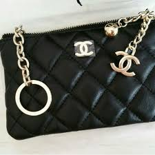 chanel key pouch. chanel (vip) lambskin pouch key