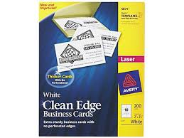 Avery 5871 Clean Edge Laser Business Cards 2 X 3 12 White 10