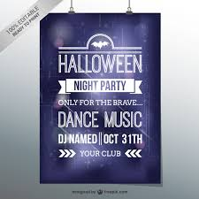 Halloween Dance Flyer Templates Halloween Dance Party Flyer Template Vector Free Download