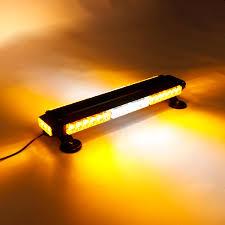 Traffic Advisor Strobe Light Bar 12v 144w 42 Led Amber Double Side Traffic Advisor Strobe Flash Light Bar Emergency Light Magnetic Universal