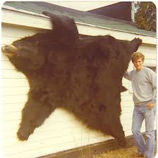 fur rugs black bear