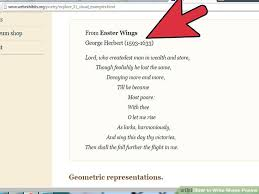 How To Write Shape Poems 14 Steps With Pictures Wikihow
