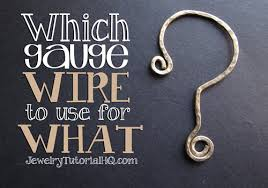 All About Jewelry Wire Which Gauge Wire To Use For What
