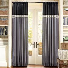 curtain for front doorDecor Dark Grommet Curtains With Dark L Shaped Curtain Rod And