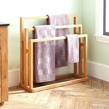 Towel Rack With Hooks Wood Towel Rack With Hooks dailynewspostsinfo