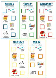 Printable Chore Chart For 5 Year Old 15 Chore Charts Thatll Motivate Your Kids To Help Around