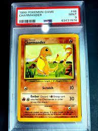 Mavin   Charmander 1999 Pokemon Game #46 46/102 Base Set PSA 9 Mint  UNLIMITED