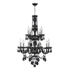 provence collection 12 light chrome finish and black crystal chandelier 28 d x 41 h two