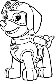 Rocky Paw Patrol Coloring Page At Getdrawingscom Free For