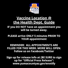 To get started, enter your email below Vaccine Distribution Information For At The Health Department Yucount Community Yuma County