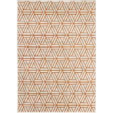 ginsberg light grayburnt orange area rug  reviews  allmodern