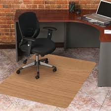 chair mat for tile floor. Accessories Incredible Rectangle Creamy Bamboo Large Chair Mat Granite Diamond Tile Floor Black Ergonomic Office For