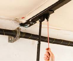 how to release and reset the emergency cord on a garage door