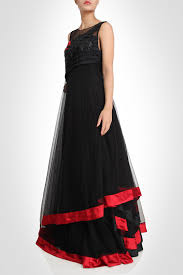 Designer Gown In Black Colour Black Color Designer Gown