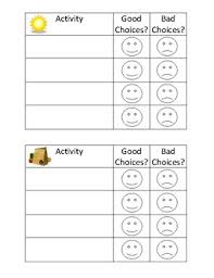Free Behavior Charts For 2nd Graders Morning And Afternoon Behavior Chart Worksheets Teaching