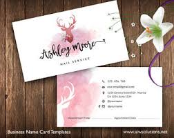 Nail Salon Loyalty Cards Salon Loyalty Business Card Spa Etsy