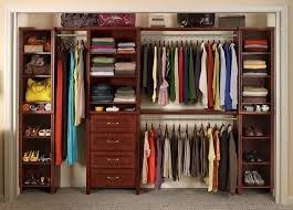 stainless steel closet systems with wooden rack and white wood closet organizer systems