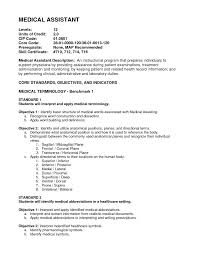 Medical Assistant Objective For A Resume Free Resume Example And