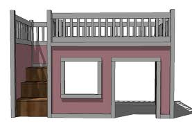 Playhouse plans with loft bed stairs wonderful because markthedevcom