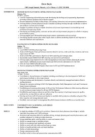 Production Manager Resumes Manufacturing Operations Manager Resume Samples Velvet Jobs