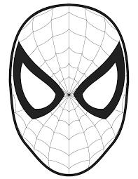 Small Picture Spiderman Logo Coloring Pages mask template Crafts for