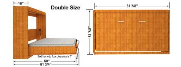 Horizontal Easy DIY Murphy Sizes and Murphy Bed Kits for Wall Bed Decoration