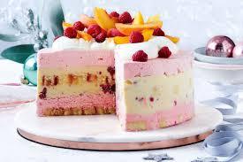 Raspberry Trifle Ice Cream Cake