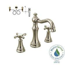 widespread 2 handle bathroom faucet trim kit with valve in polished