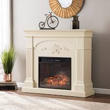 harper blvd stewart ivory infrared electric fireplace free within fireplace screen