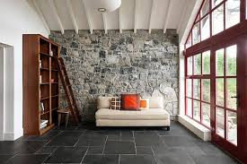 Solid Tile Flooring For Cozy Family Room Decorating Ideas With Stone