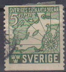 Sweden 1944 Used 5ore Tercent Of First Swedish Marine