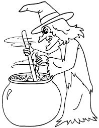 Halloween Witch Coloring Sheets Fun For Christmas Halloween